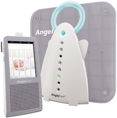 Angelcare Video, Movement And Sound Monitor, Gray/White front-762267