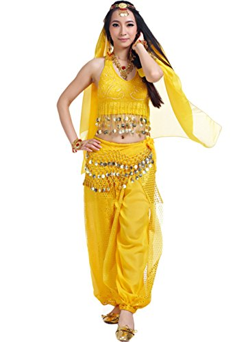 JustinCostume Professional Belly Dance 5-Piece Set Halloween Costume