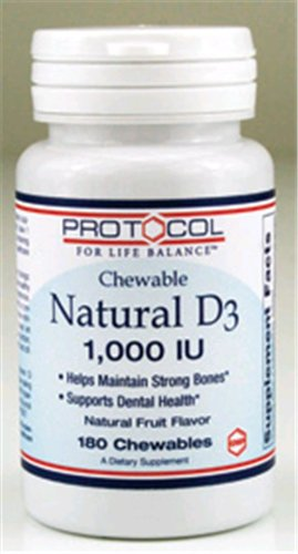 Vitamin D3 1000 Iu 180 Chewable Tablets