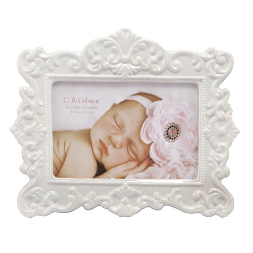 C.R. Gibson Ceramic Photo Frame, Bella