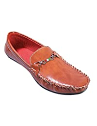 LION HEART Men's Classic Faux Leather Loafer Tan