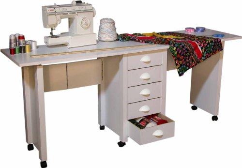 Mobile Desk Double - folding desk for extra space (Black) (29.5
