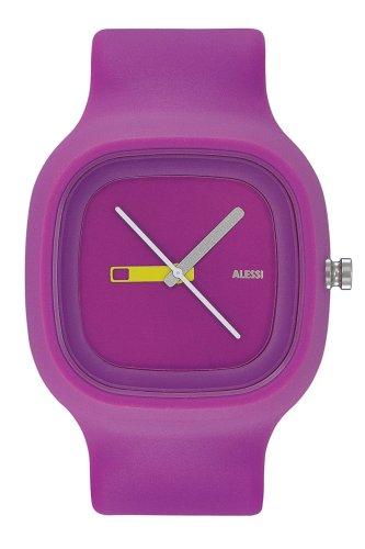 Alessi - AL10015 - Montre Mixte - Quartz - Analogique - Bracelet plastique violet