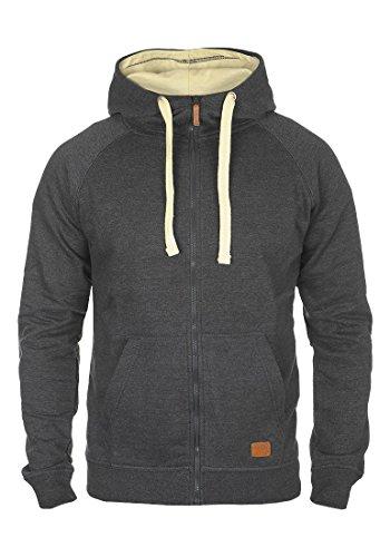 BLEND Aidoo - Felpa Con Zip da Uomo, taglia:M;colore:Charcoal (70818)