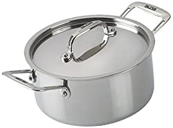 ALDA Tri Ply Stainless Steel Casserole 24 + Stainless Steel Lid - 4.5L