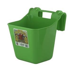 Little Giant Dura-Flex Hook Over Portable Feeder, 12-Quart, Lime Green