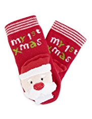 Cotton Rich Christmas Slipper Socks