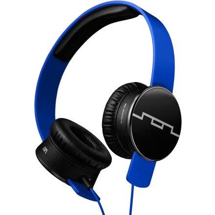 Sol Republic Tracks Headphones Electro Blue, 1-Button Mic