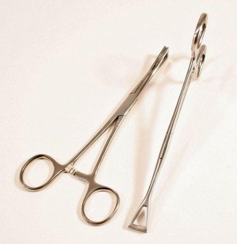 2 -- NEW Ear Piercing Forcep Hemostat Tool Body Jewelry
