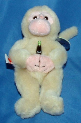 Coca-Cola Bean Bag Plush Key Key the Snow Monkey representing (Japan) - 1
