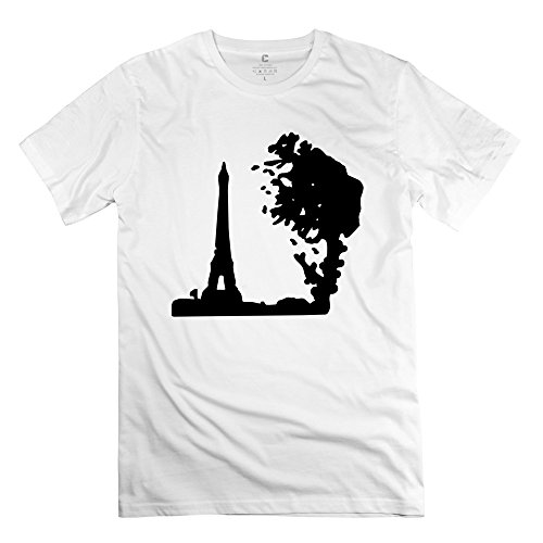 Men France Paris Eiffel Tower Tree Tshirts - Hot Custom White T-Shirts