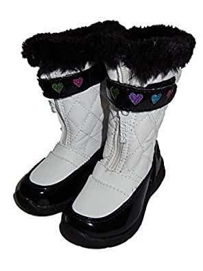 Amazon.com: Totes Kids Toddler Girls White Snow Boots