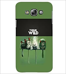PrintDhaba Think Wild D-5961 Back Case Cover for SAMSUNG GALAXY E7 (Multi-Coloured)