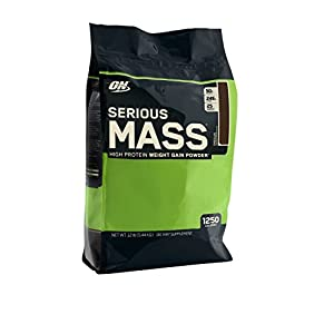 Optimum Nutrition Serious Mass, Chocolate, 12 Pound