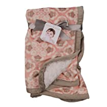 Blankets and Beyond Lovely Decorated Owl Blanket Pink