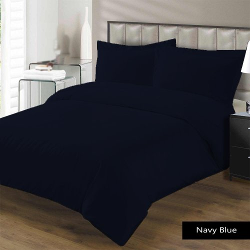 "400 Tc 4 Pc Sheet Set King Size Solid Navy Blue Fits Mattress Upto 18"" Deep By Jay'S Home Goods front-582256"