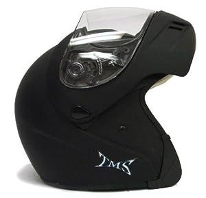 Matte Flat Black Flip Up Modular Motorcycle Street Sport Bike Full Face Helmet DOT (Medium)