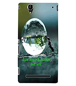 ColourCraft Inspirational Quote Design Back Case Cover for SONY XPERIA T2 ULTRA