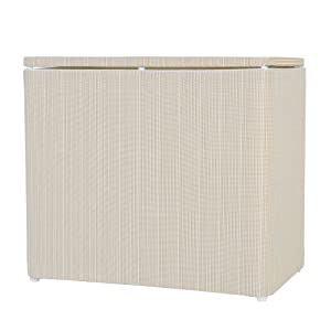Lamont Home Raine Bench Hamper White Ivory Laundry Hampers