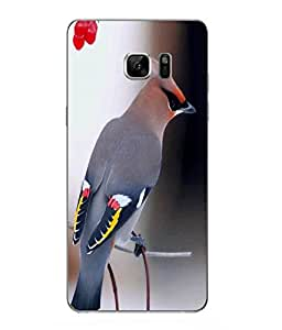 Snazzy Bird Printed Colorful Hard Back Cover For Samsung Galaxy Note 7