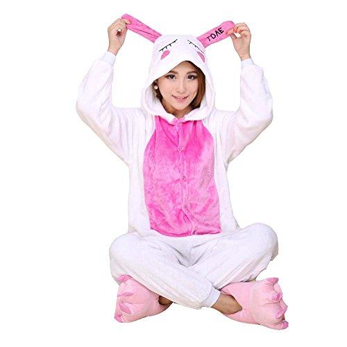 [XMiniLife Rabbit Unisex Adult Halloween Kigurumi Onesie,5 Colors (125#(Height 130-145cm), Love] (Spyro The Dragon Halloween Costume)