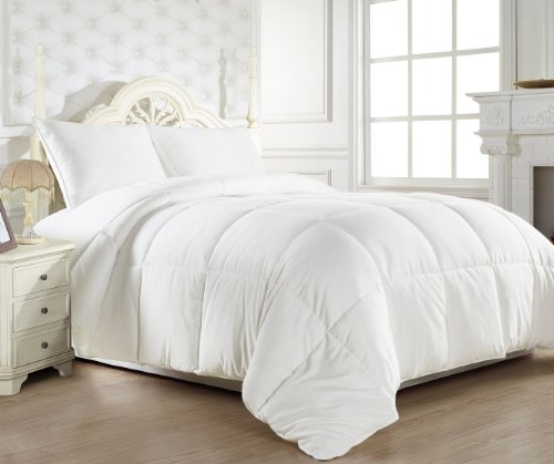 Super Soft White Goose Down Alternative Comforter (Duvet Cover Insert) Twin Size