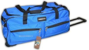 Jeep Ph 555 Blue 27 Inch Wheeled Duffle Holdall Travel Bag -  from Jeep