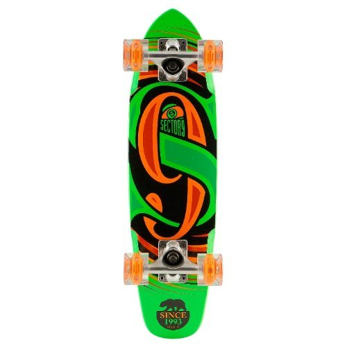 sector-9-steady-glow-wheel-green-complete-mini-cruiser-with-led-light-up-wheels-by-sector-9