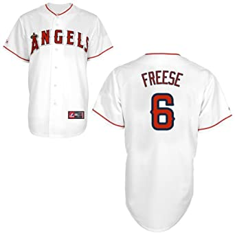 David Freese Jersey: Los Angeles Angels of Anaheim Adult Home White #6 by Majestic