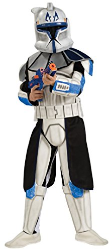4 PC. Boys' Star Wars Deluxe Captain Rex Clone Trooper Jumpsuit Set