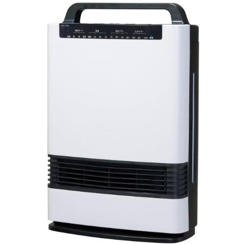 Pieria(ピエリア) 加湿セラミックヒーター ホワイト 2段階切替 加湿量3段階切替 入/切タイマー 主電源スイッチ付き DCH-1403H WH