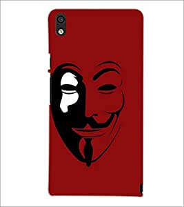 PrintDhaba Vendetta D-4641 Back Case Cover for HUAWEI ASCEND P6 (Multi-Coloured)