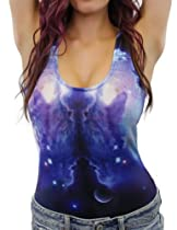 Blue Moon Galaxy Bodysuit (Medium)