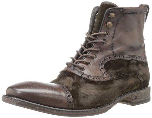 John Varvatos Men's Fleetwood Boot,Dark Brown,9 M US