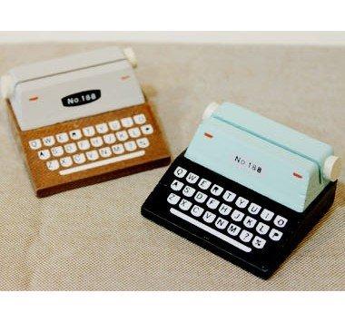 Wooden Vintage Typewriter Sticky Notes Card Holder Cardcase (Typewriter Vintage compare prices)