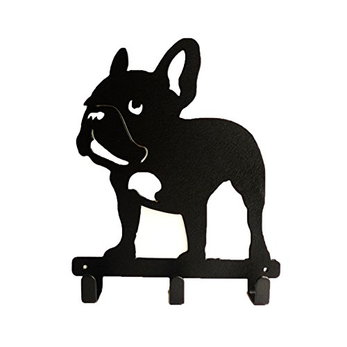 Frenchie French Bulldog Wall Metal Rack Hat Hanger Key Holder Hook (French Bulldog Key Rack compare prices)