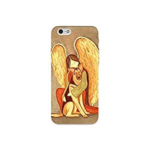 I phone 6 nkt07 r (5) Mobile Case by Mott2 - Angel with Dog (Limited Time Offers,Please Check the Details Below)