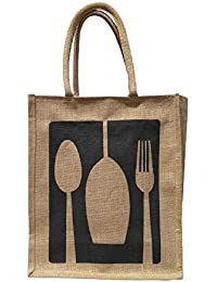 GREAN Jute Lunch Bag/Tote Bag/Utility Bag (11x5x13)inches