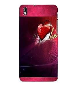 ColourCraft Love Design Back Case Cover for HTC DESIRE 816