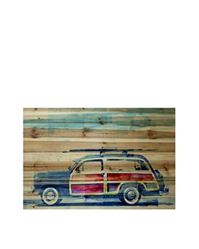 Parvez Taj Surf Day Pine Wood Wall Art