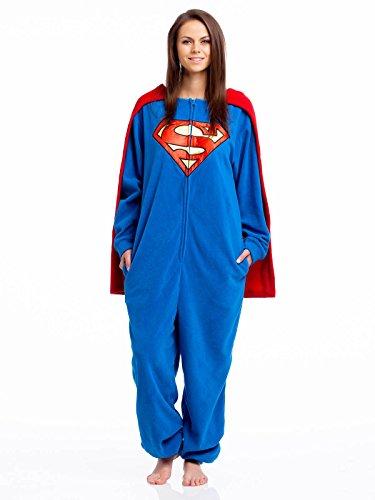 Superman Caped Overall Tuta blu L