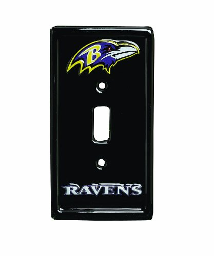 NFL 6-Inch by 3-1/4-Inch Light Switch Cover, Sculpted, 3-D, Baltimore Ravens at Amazon.com