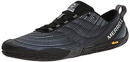 Merrell Men\'s Vapor Glove 2 Trail Running Shoe, Black/Castle Rock, 8.5 M US