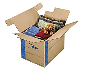 Bankers Box SmoothMove Fast Assembly Tape-Free Moving and Storage Boxes, Large, 6 Pack (0062901)