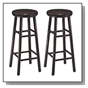 30-Inch Wood Swivel Counter Bar Stools