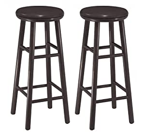 Winsome Wood 30-Inch Swivel Bar Stools, Dark Espresso Finish, Set of 2 by Winsome Wood