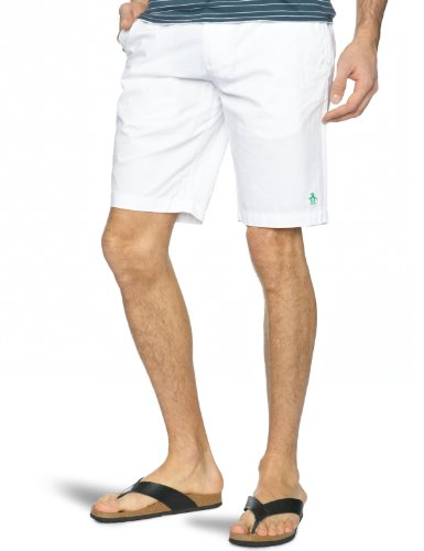 Original Penguin Basic Cotton Shorts Men's Shorts Bright White 34