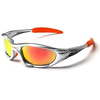 X-Loop Lunettes de Soleil - Sport - Cyclisme - Ski - Conduite - Moto - Plage / Mod. 1002 Argent Orange Spectrum / Taille Unique Adulte / Protection 100% UV400