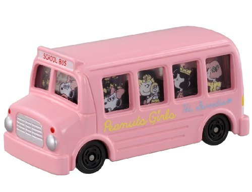 Takara Tomy Tomica Dream Series Snoopy Peanuts Girls Bus Pink - 1