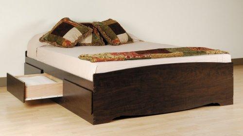 Prepac Espresso Queen Platform Storage Bed
